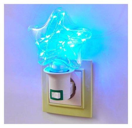 Ночник Звезда LED от сети 4х10,5х13,5 см КНР