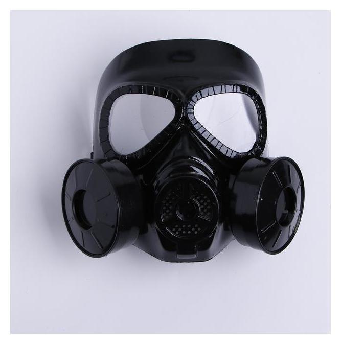 Карнавальная маска «Противогаз», цвет чёрный  NNB