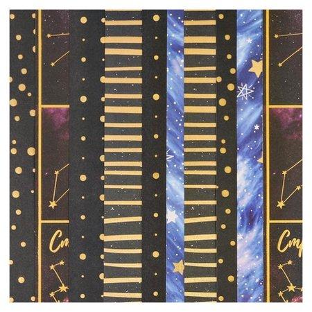 Набор бумага для скрапбукинга с голографическим фольгированием «Вдохновение»,30.5×32см, 10 листов Арт узор