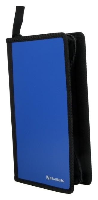 Портмоне для Cd/dvd Brauberg, на 96 дисков, обложка пластиковая, синий  Brauberg
