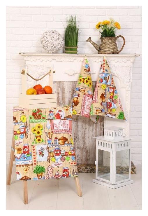Набор полотенец 45х60 см - 3 шт «Домашний уют» DomoVita