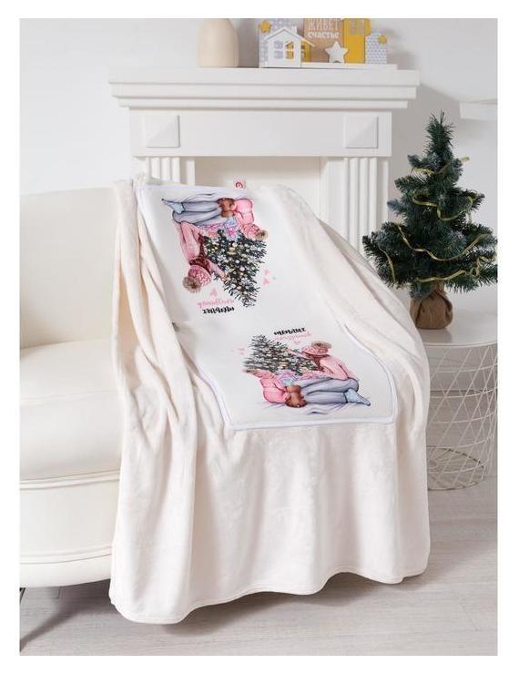 Подушка-плед «Тёплых праздников», подушка 40х40±3 см, плед 100х150 см Этель