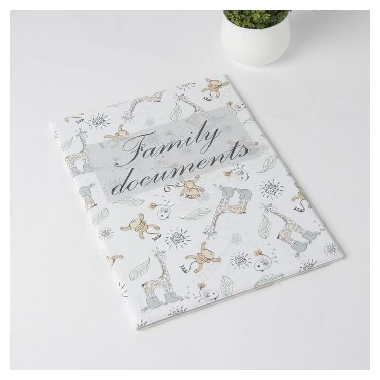 Папка для семейных документов, 2 комплекта, цвет белый NNB