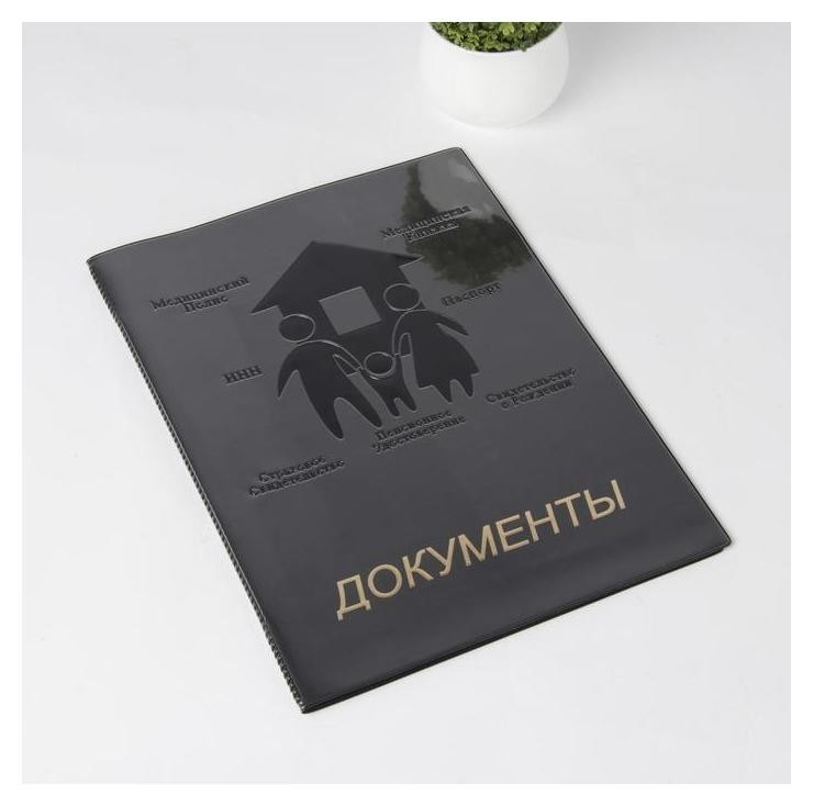 Папка для семейных документов, 1 комплект, цвет чёрный NNB