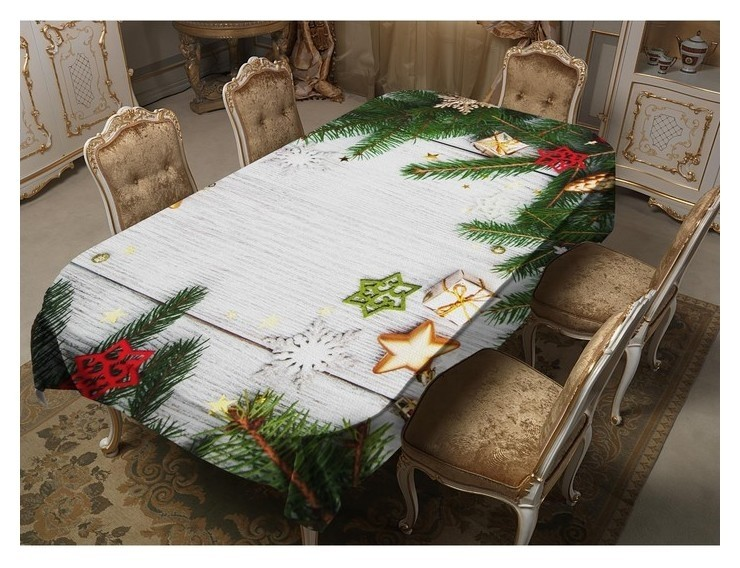Скатерть Сюрприз 120х150 см, габардин 100% п/э, 150гр/м2 ТамиТекс