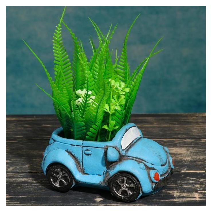 Кашпо фигурное Машинка синее, 13*6,5*7см NNB