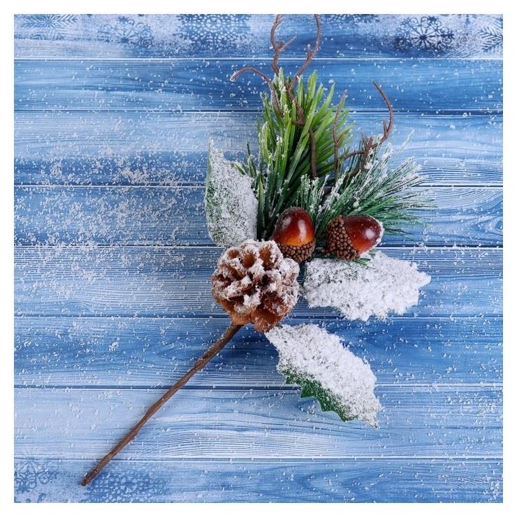 Декор Зимнее очарование шишка два жёлудя 24 см Зимнее волшебство