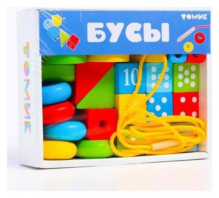 Логический игровой набор «Бусы», 30 деталей  Томик