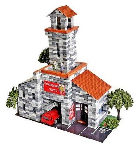 Конструктор из кирпичиков «Пожарная часть», 700 деталей  Архитектурное моделирование