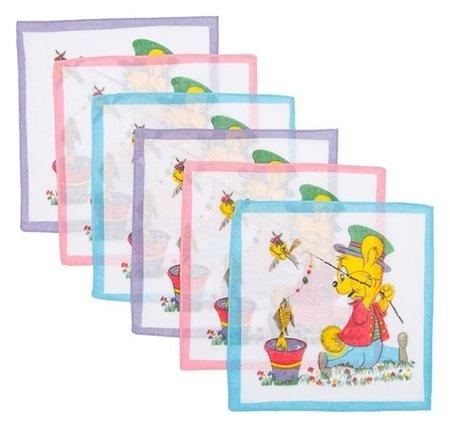 Набор детских носовых платков Etteggy, 6шт, ситец  Etteggy
