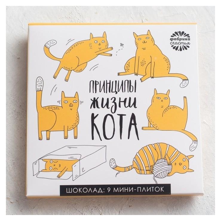 Шоколад молочный Принципы жизни кота Фабрика счастья