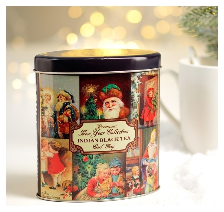 Чай черный лондон прайд Новогодний с бергамотом с ароматом цитрусовых ж/б 100 г NNB