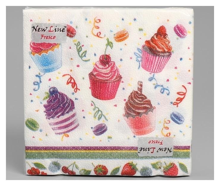 Салфетки бумажные New Line Fresco десерт 2-слоя 20 листов 33*33 New line fresco