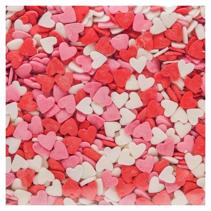 Кондитерская посыпка «Сердце», красная/белая/розовая, 750 г Топ Декор