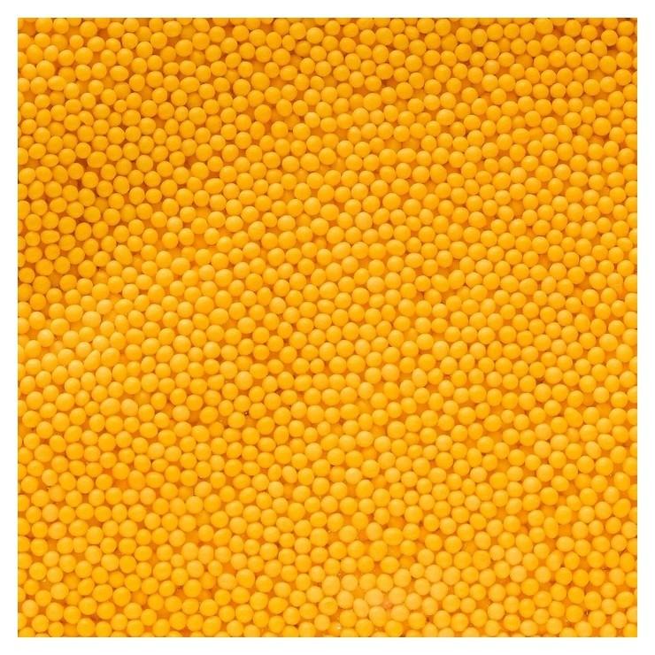 Кондитерская посыпка «Шарики», жёлтая, 1 кг Топ Декор