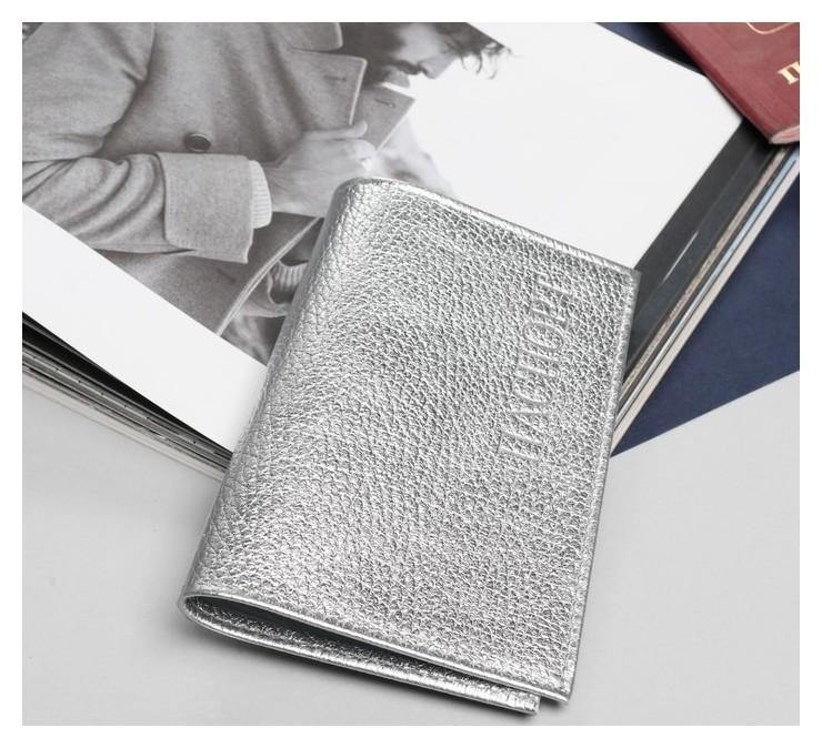 Обложка для паспорта, флотер, цвет серебро  Cayman
