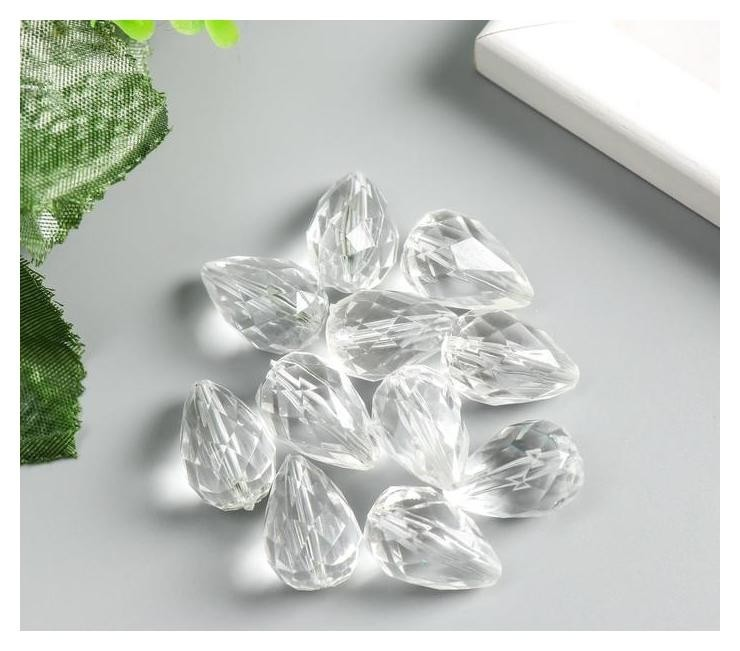 Набор декора для творчества пластик Кристалл-капля набор 20 гр 2х1,3х1,3 см Арт узор