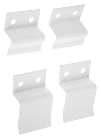 Крепление для москитной сетки металл, белый, 4 шт. NNB