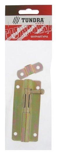Задвижка дверная ЗД 005 Tundra Krep, 100 мм, оцинкованная, 1 шт.  Tundra