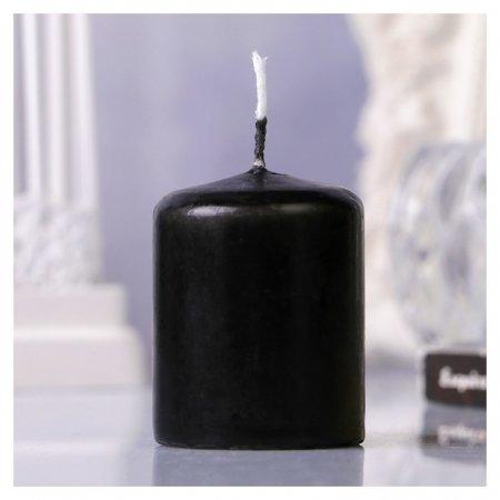 Свеча пеньковая, 4х5см, чёрная  Омский свечной завод