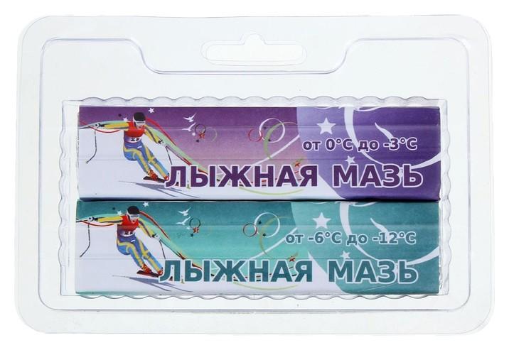 Мазь лыжная, комплект из 2 брусков, ф-з, (От 0 до -12°c), 80 г  СПРИНТ