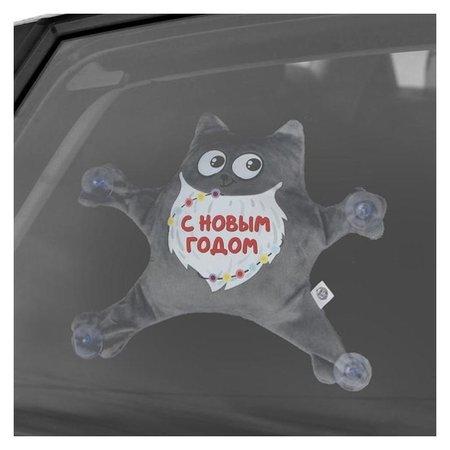 Автоигрушка «С новым годом», котик, на присосках  NNB