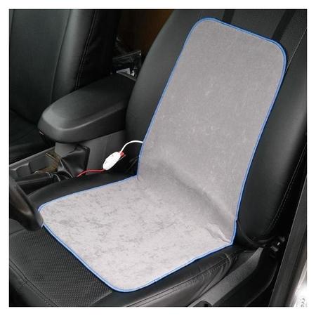 Подогрев сидений Cartage, со спинкой, 2 режима нагрева, 12 В, 30/50 вт,40х80 см, греющий жгут - нити Microheat  Cartage