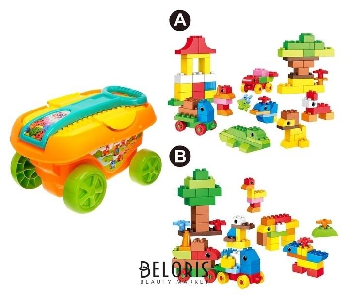 Конструктор «Забавные животные», в тележке, 95 деталей Kids home toys