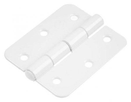 Петля накладная Tundra пн5-60, покрытие полимер, белая, 1 шт.  Tundra