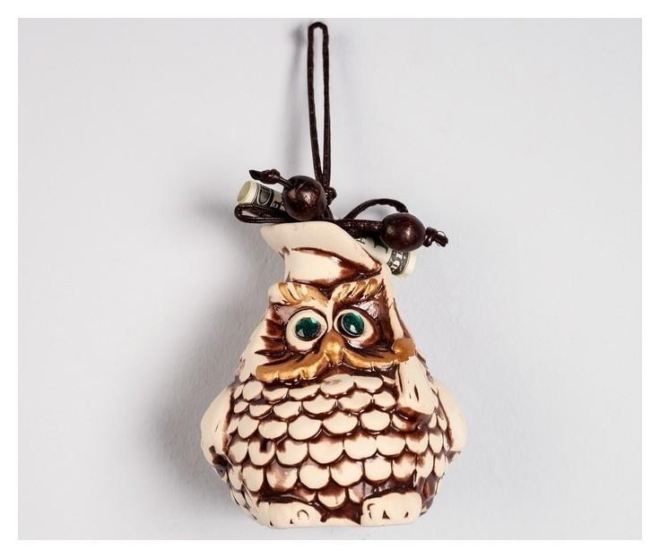 """Сувенир подвесной """"Сова"""", под шамот, декор, 10,5 см  Керамика ручной работы"""