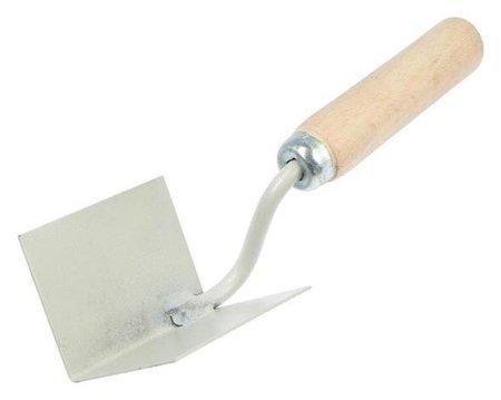 Кельма для внутренних углов ON, 80х60х60 мм, деревянная усиленная ручка, окрашенная сталь  КНР