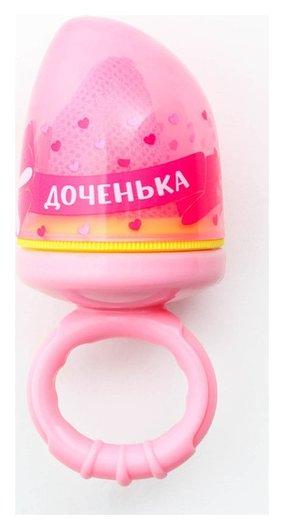 Ниблер с текстильной сеточкой «Милая доченька», цвет розовый  Крошка Я