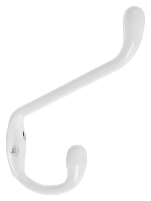 Крючок мебельный двухрожковый Tundra Krep, км05ha, цвет белый  Tundra