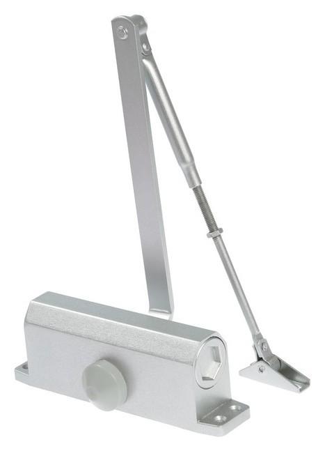 Доводчик дверной Tundra D100sl, до 100 кг, цвет серебро  Tundra