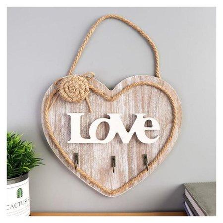 Крючки декоративные Сердце с розой  NNB