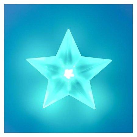 "Ночник ""Звезда"" LED от батареек белый 6х10,5х15 см  КНР"