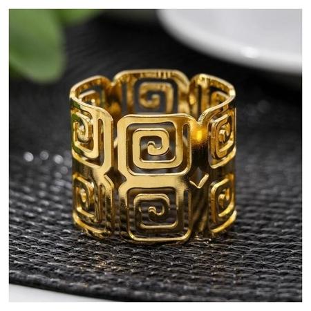 Кольцо для салфетки «Греческий», 4×3,5 см, цвет золотистый  NNB
