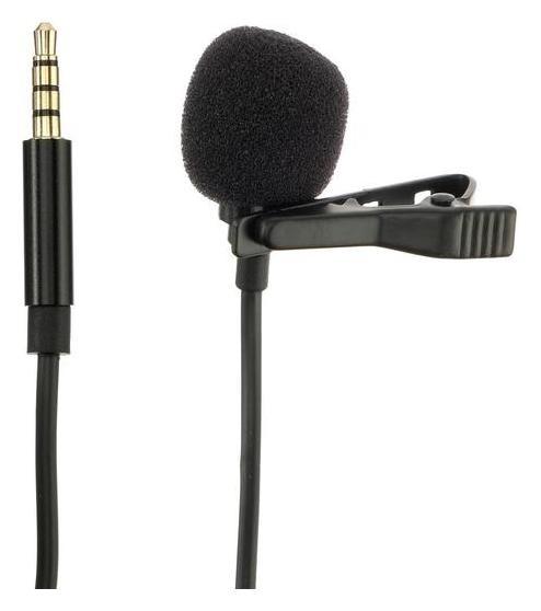 Микрофон Gl-119, на прищепке, 3.5 Jack, чёрный  NNB