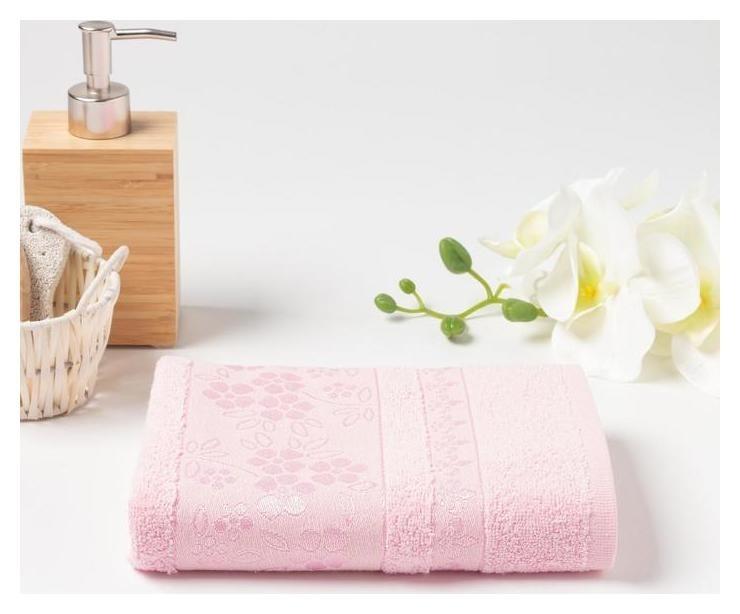 Полотенце махровое (В коробке) Elara 50х90 см, розовый, хлопок 100%, 400г/м2  Fiesta