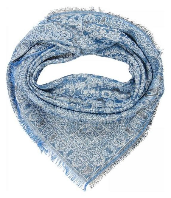Платок женский, цвет синий, размер 100х100 см  Rossini