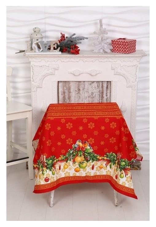 Скатерть Рождество 150х150 см  DomoVita