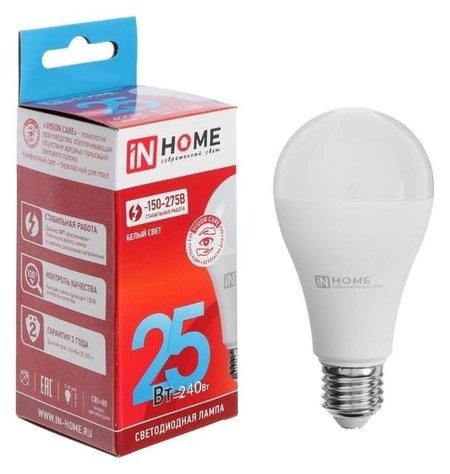 Лампа светодиодная IN Home Led-a65-vc, е27, 25 Вт, 230 В, 4000 К, 2250 Лм  INhome