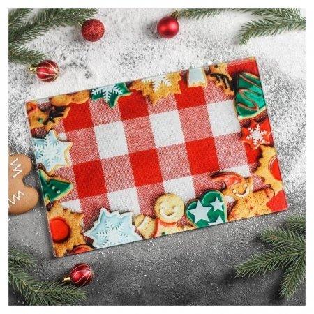 Доска разделочная «Новогодняя выпечка», 30×20 см  Доляна