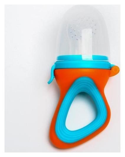 Ниблер силиконовый, цвет оранжевый/голубой  Mum&baby