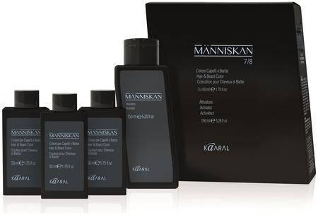 Набор краска для волос и бороды + активатор Kaaral Manniskan