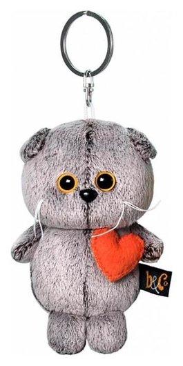 Мягкая игрушка-брелок «Кот басик брелок с сердечком», 12 см  Басик и Ко