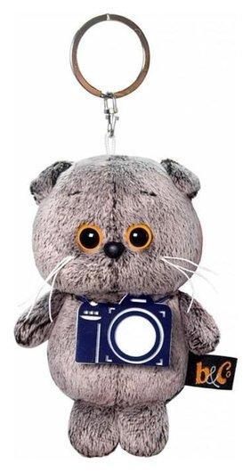 Мягкая игрушка-брелок «Кот басик брелок с фотоаппаратом», 12 см  Басик и Ко