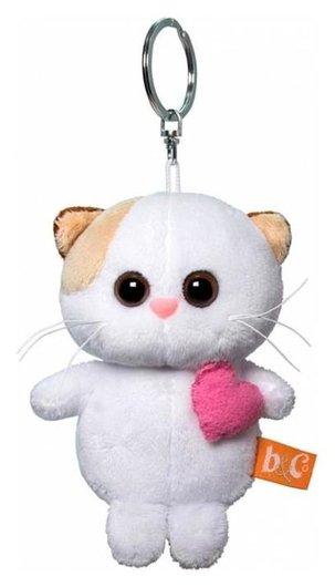 Мягкая игрушка-брелок «Кошечка Ли Ли брелок с розовым сердцем», 12 см  Басик и Ко