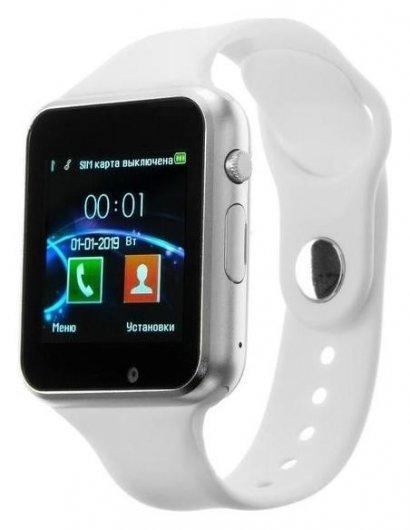 """Смарт-часы Jet Phone Sp1, цветной дисплей 1.54"""", Bluetooth 4.0, камера, серебристые  JET"""