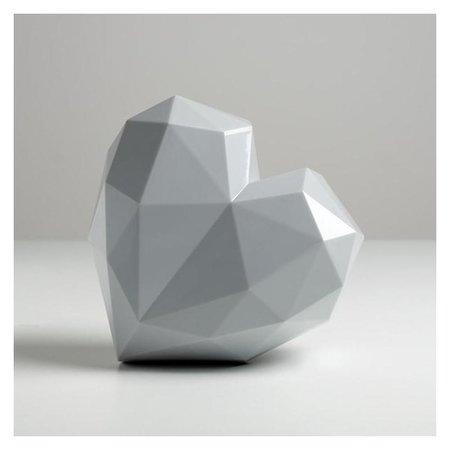 Подарочная коробка «Серое сердце», 18 × 18 × 12.5 см  Дарите счастье